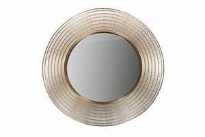 Miroir Doré Rond : miroir rond en m tal dor gold ~ Teatrodelosmanantiales.com Idées de Décoration