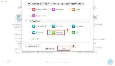 ios androidgeloeschte whatsapp chats wiederherstellen