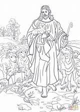 Jesus Coloring Shepherd Pages Printable Getcolorings sketch template