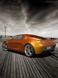 Orange Audi Sports Car