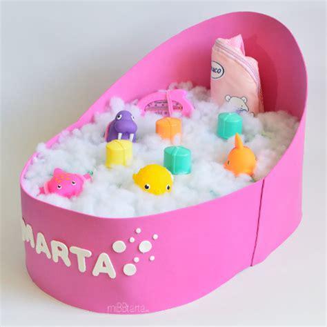 Bañera de pañales Tartas de pañales online Regalo bebé