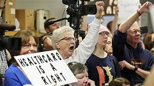 Republicans Face Angry Protests at Town Halls