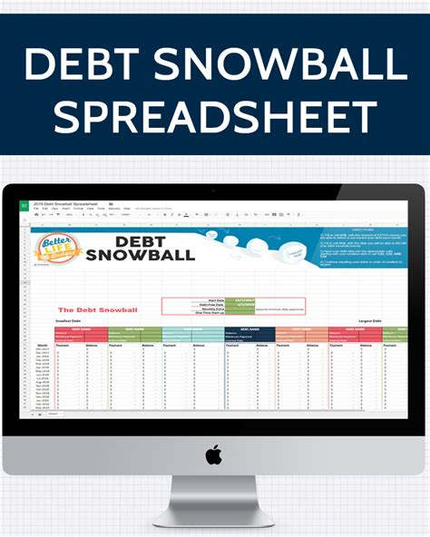 Debt Payoff Spreadsheet Debt Snowball Excel Credit Debt Snowball Spreadsheet 187 One Beautiful Home