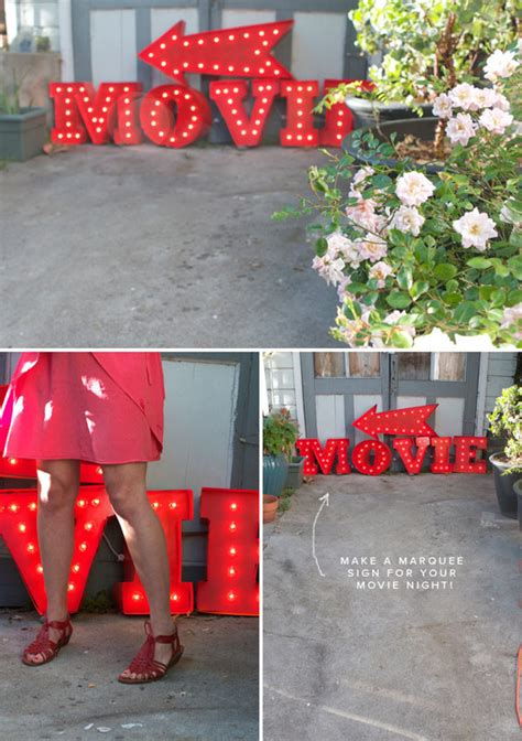 how to make a movie marquee sign how to make a retro marquee sign 187 curbly diy design decor