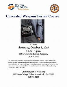 Concealed Weapons Permit Course - South Florida State College