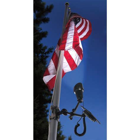 outdoor flag pole lights valley forge solar liberty flag pole light 142809