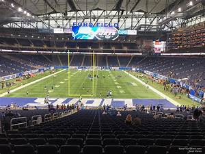 Ford Field Seating Chart Concert Ford Field Section 138 Detroit Lions Rateyourseats Com