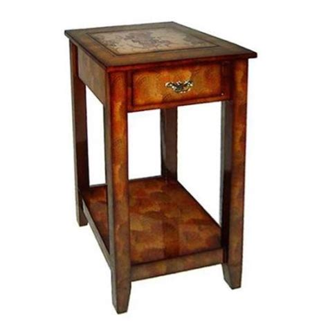 33 in tall wooden end side table in brown walmart com