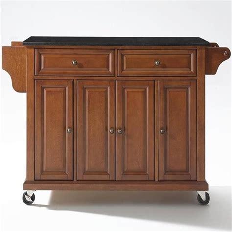 crosley furniture kitchen cart crosley furniture solid black granite top kitchen cart in