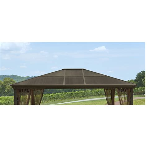 grand resort replacement polycarbonate roof tiles outdoor living gazebos canopies