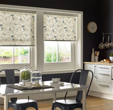Blinds And More by Flaire Neutral Roller Blinds Floral Kitchen Roller Blinds