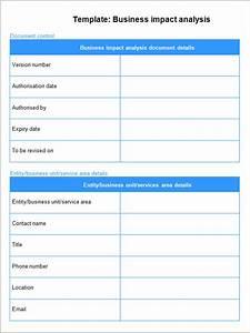 it business impact analysis template - business impact analysis 6 free pdf doc download