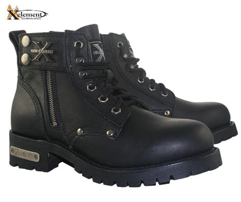 laced motorcycle boots xelement advance men s black lace up motorcycle boots size