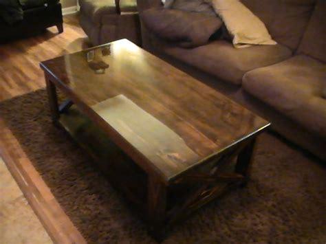 rustic  coffee table ana white