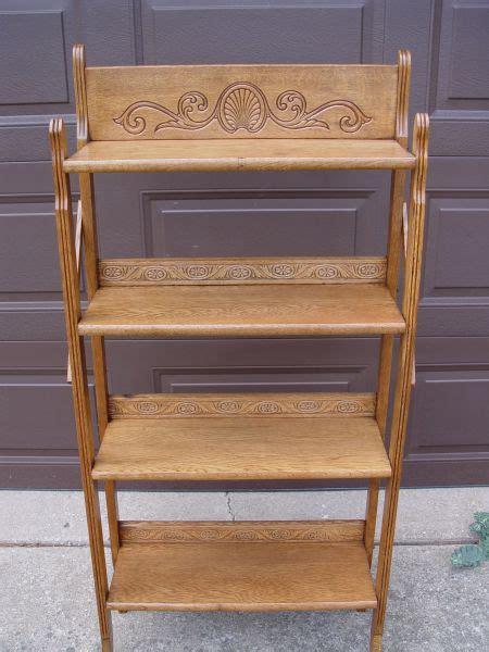 Fold Up Bookcase by Antique Oak Folding 4 Shelf Bookcase Up Only