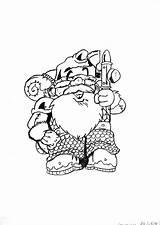 Fantastic Dwarf Mountaineer Nain Coloriage Coloring Fantastique Dessin Alpiniste Printable sketch template