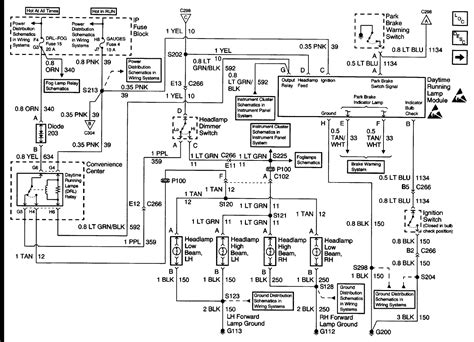 chevrolet light wiring diagram wirning diagrams