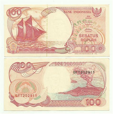 jual 1 lembar 100 rupiah perahu layar tahun 1992 benang emas di lapak java indieisland ardian noer