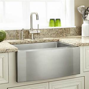 27quot optimum stainless steel farmhouse sink wave apron With 27 farmhouse sink white