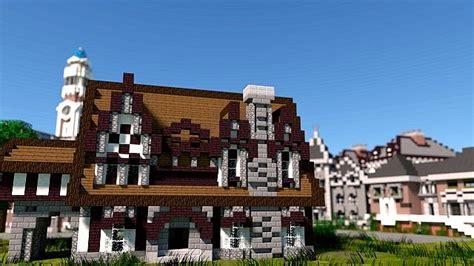 monster university frat houses minecraft building