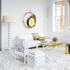 White And Gold Living Room Decorating Ideal Home