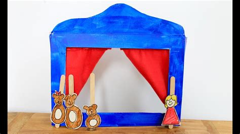 easy craft     cereal box puppet theatre youtube