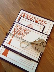 diy rustic wedding invitation fall invitation printed by With hemp paper wedding invitations