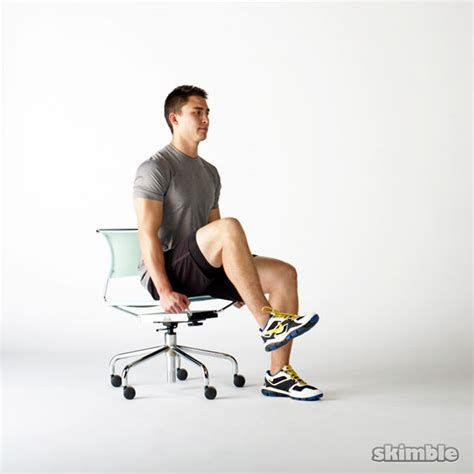 Chair Leg Raises Exercise by Seated Knee Raises Exercise How To Workout Trainer By