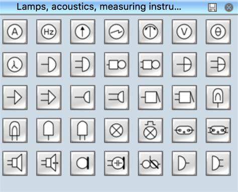 electrical symbols lamps acoustics readouts