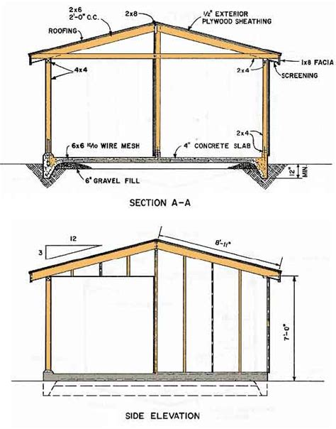 10 X 16 Shed Plans Free by Chea 10x12 Gambrel Shed Plans 8x10