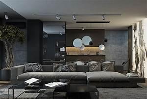 Wohnzimmer Gestalten Modern : wohnzimmer in grau und schwarz gestalten 50 wohnideen ~ Sanjose-hotels-ca.com Haus und Dekorationen