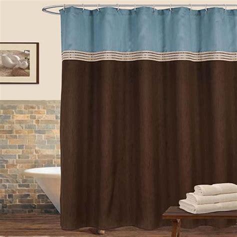 terra blue and brown shower curtain lush decor shower curtains bath accessories bath