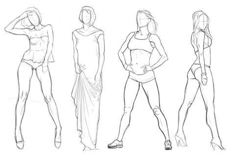 Female Figures Study By Brunosfc On Deviantart