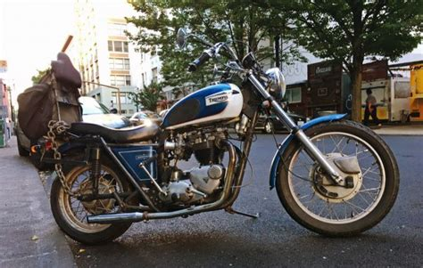 Old School Triumph Bonneville