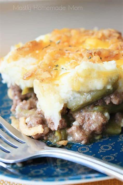 green bean casserole shepherds pie  homemade mom