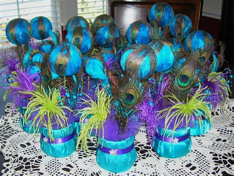 diy wedding peacock decorations ideas