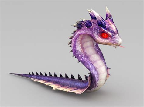 Cute Anime Snake 3d model 3ds Max files free download