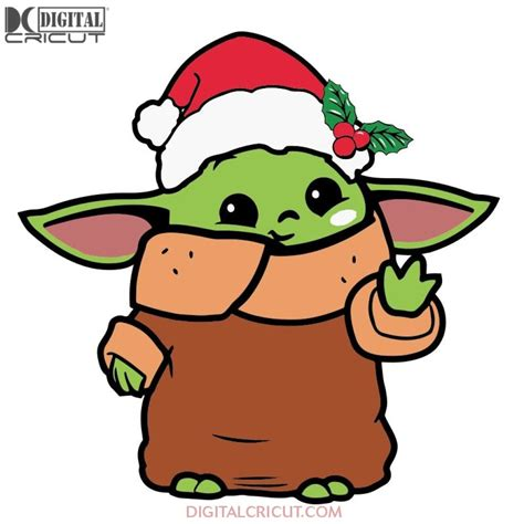 Baby Yoda Christmas Svg Free Download  – 89+ SVG File for Cricut