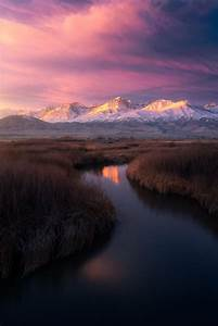 The, Snowy, Sierras, A, Serene, Stream, And, A, Sublime, Sunrise