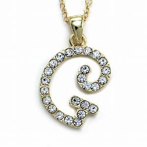 New initial alphabet letter g pendant necklace high polish for Letter g pendant necklace