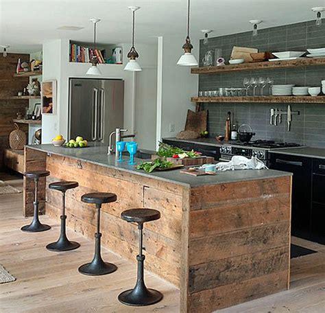 ways  create rustic kitchen island  kitchen