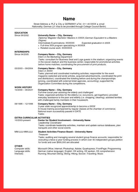 sample resume  usa good resume format