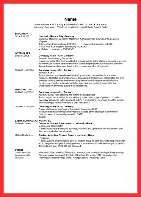 sample resume  usa good resume  format