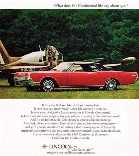 Lincoln Continental Coupe 1967 Sports Airplane | Mad Men ...