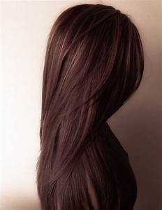 This chocolate brown hair with some subtle gold highlights ...