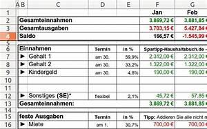 Budget Rechnung : excel haushaltsbuch download giga ~ Themetempest.com Abrechnung