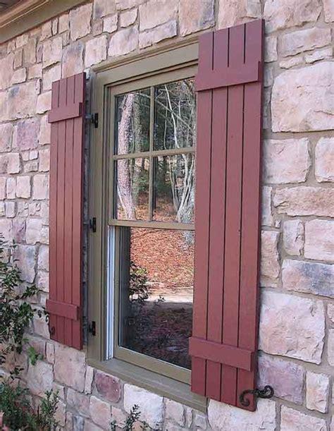 Doors & Windows Exterior Wood Shutters With 16