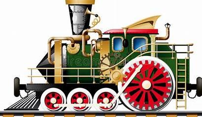Steam Locomotive Steampunk Clipart Train Side Fictional