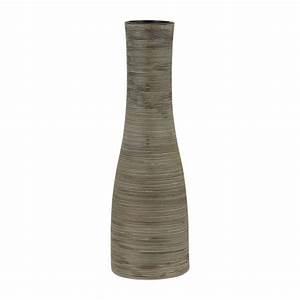 Vase En Céramique : scratch vases noir c ramique habitat ~ Teatrodelosmanantiales.com Idées de Décoration