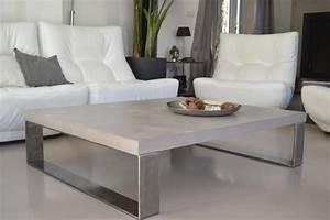 Table Basse En Beton : soft table basse b ton et acier flapp design industriel ~ Teatrodelosmanantiales.com Idées de Décoration